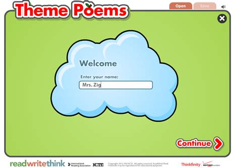 theme list for poems zig s kids theme poems