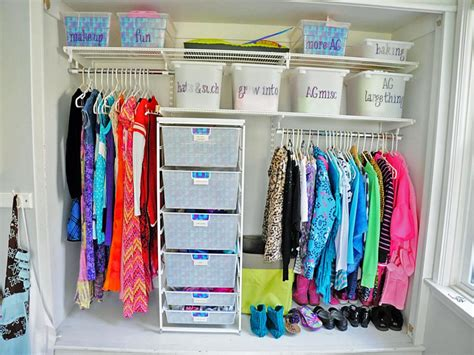 how to organize clothes without a closet 10 ways to organize your kid s closet hgtv