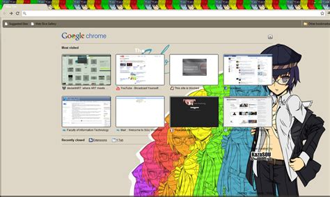 persona theme for google chrome google chrome theme naoto shirogane randomness thing
