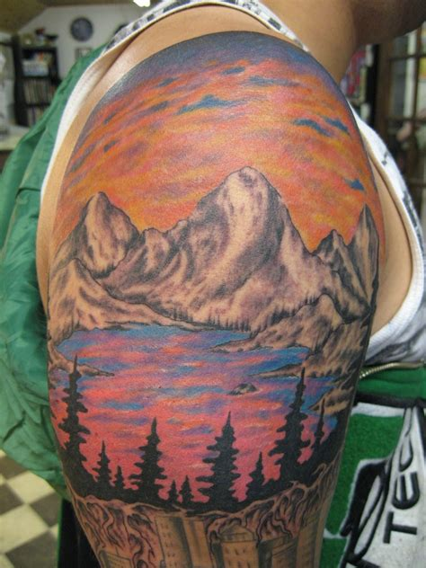 mountain scene tattoo designs mountain tattoos designs ideas and meaning tattoos for you