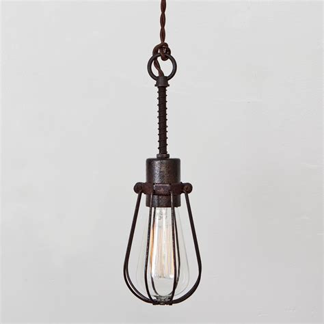 Industrial Pendant Light Industrial Light Fixtures Cage Ls Ideas