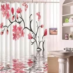 novel fashion blossom 3d bathroom shower curtain