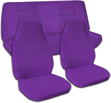 purple seat covers for cars solid color car seat covers set semi custom black