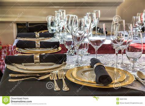 Glasses Table Setting Table Setting Stock Photo Image Of 36057060
