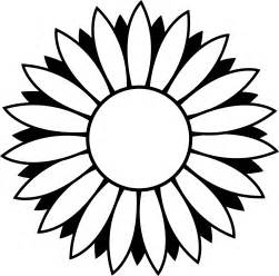Sunflower Clip Outline by Flower Outlines On Line Tattoos Lotus Flower Drawings And Coloring For