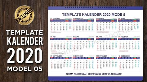 lengkap template kalender  model  format coreldraw ai  dropship grid