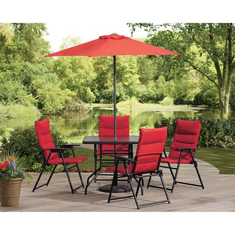 6 chair patio dining set castlecreek outdoor patio furniture dining set 6 pc