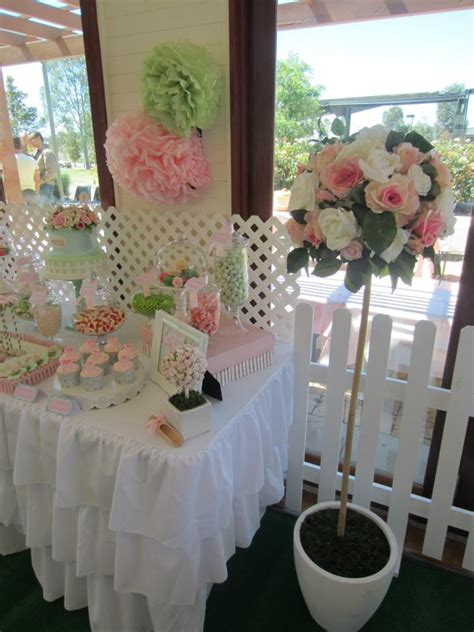 Garden Baby Shower Ideas Rosey Garden Via Babyshowerideas