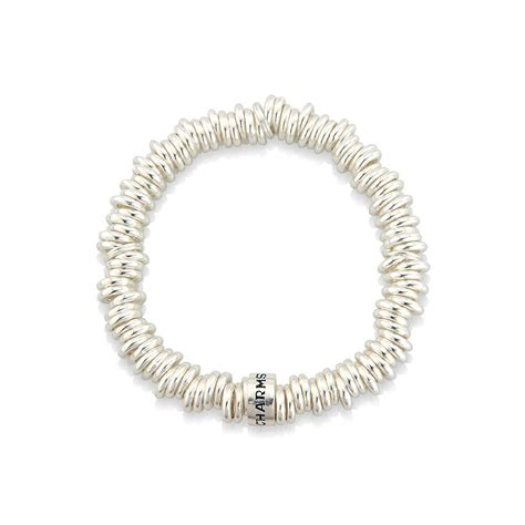 silver ring stretch bracelet by argent of