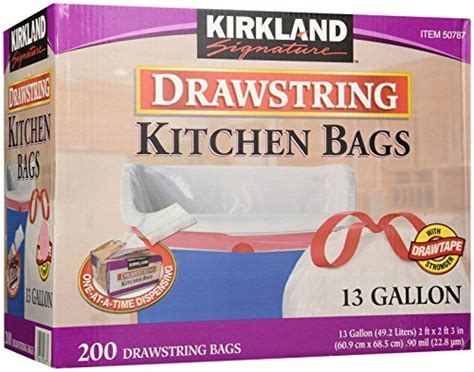 Trash Bags The New Look For Fall by Kirkland Signature Drawstring Kitchen Trash Bags 13