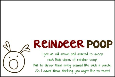 printable reindeer poop tags pinterest the world s catalog of ideas