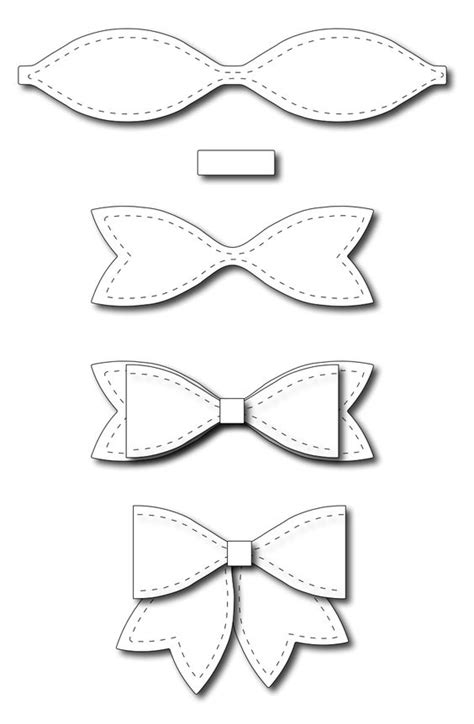 bow template frantic ster precision dies large solid paper bow