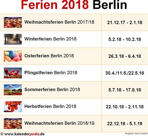 wann sind winterferien ferien berlin 2018 220 bersicht der ferientermine