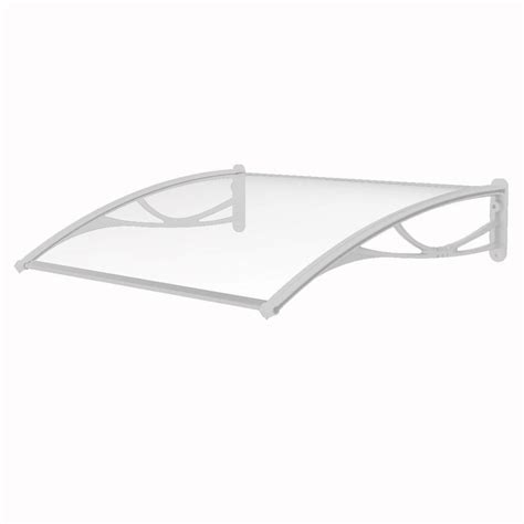 polycarbonate awning brackets advaning pn series solid polycarbonate sheet door awning