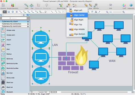 network diagram osx network security diagrams solution for apple os x