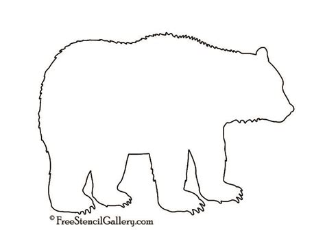 best 25 bear stencil ideas on pinterest bear template