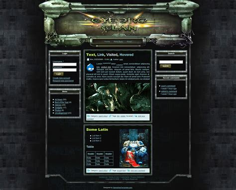theme drupal gaming sci fi drupal theme