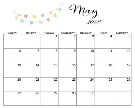 may template printable 2018 monthly blank templates calendar 2018