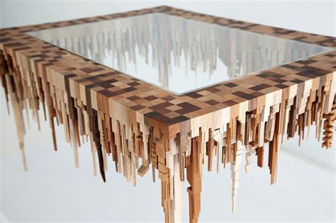 Model Home Decorating Pictures by Amazing Wooden Table With Upside Down Town Miniature