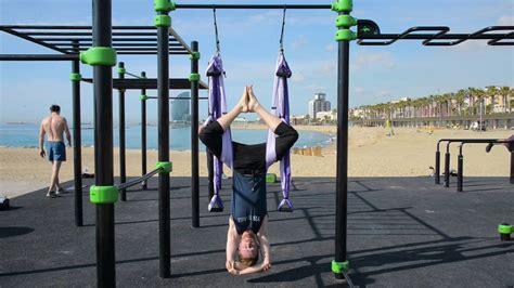 hang  yoga trapeze outdoor setup instructions