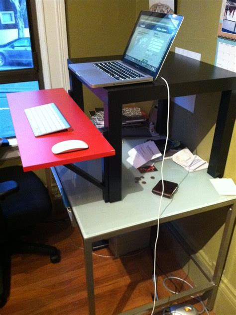 Cheap Standing Desk Ikea Diy The 22 Standing Desk Was Invented By Colin Nederkoorn Last Year And It S As Simple As It