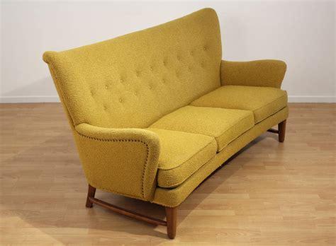 wingback loveseat sofa early scandinavian wingback sofa at 1stdibs