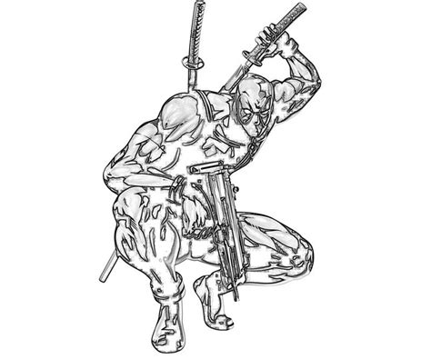 marvel deadpool coloring pages free coloring pages of deadpool chibi