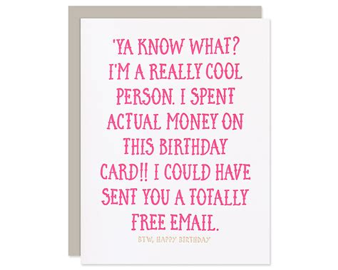 Sarcastic Birthday Cards