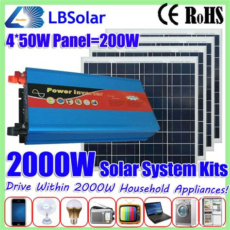 lbsolar 2000w grid solar power generation system with