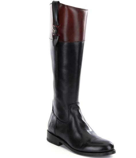 frye boots wide calf frye button leather zip wide calf