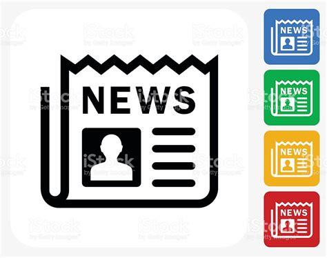 design graphic news newspaper icon flat graphic design stock vector art more