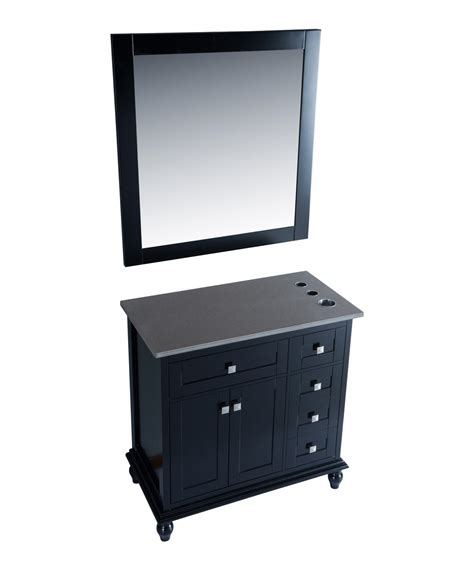 42 quot black vanity styling station mirror