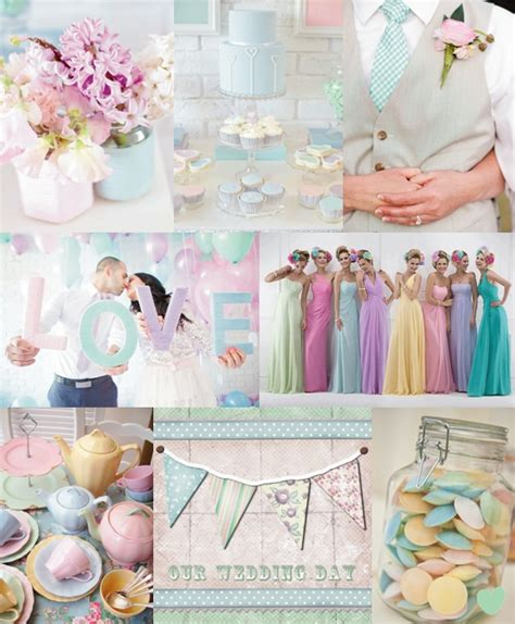 pastel wedding colours mood board fairytale wedding