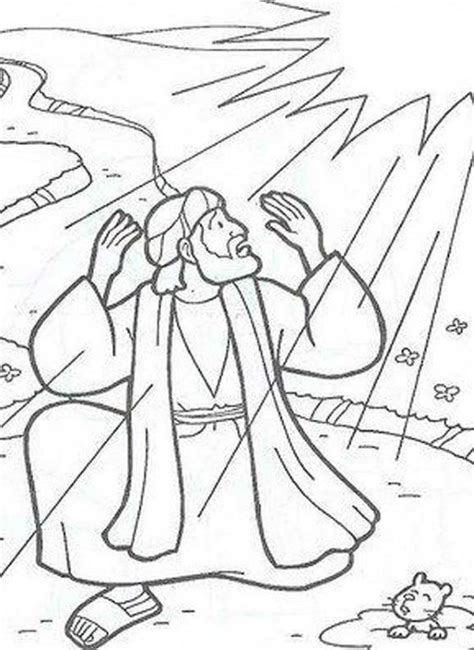Coloring Page Acts 9 by Saul On The Road To Damascus Craft Search
