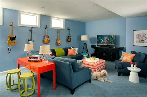basement family room contemporary basement liz caan interiors