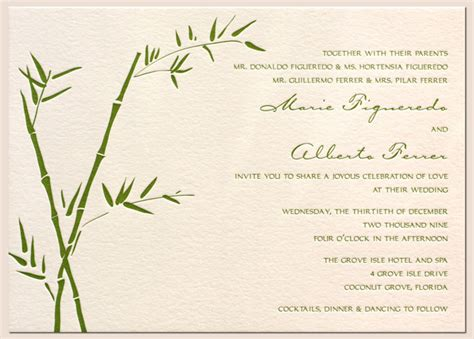 Bamboo Paper Wedding Invitations by Wedding Invitations Shine Your
