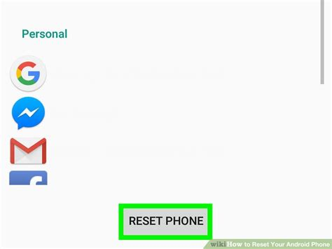reset android 4 4 2 how to reset your android phone 12 steps with pictures