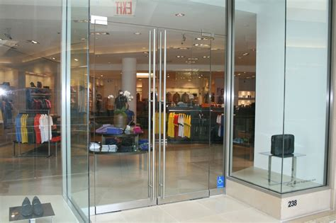 Storefront Glass Door Mall Storefront Doors 2 Allservices Frameless Glass Company