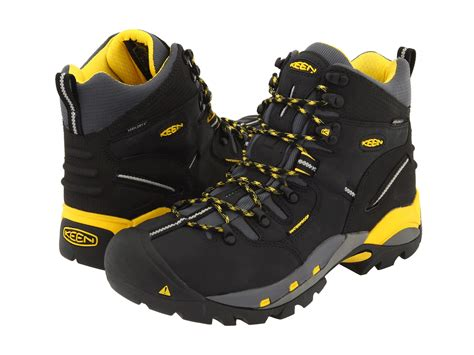 keen utility boots keen utility pittsburgh boot black yellow zappos