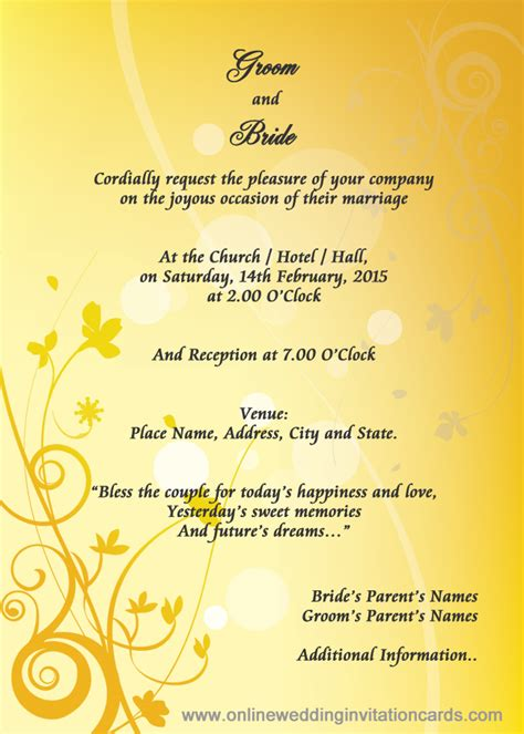 Wedding Invitation Card Taiwan by Invitation Card Format Pdf Image Collections Invitation