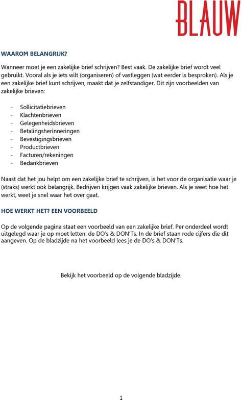 Een Zakelijke Brief Schrijven Nederlands Pdf een zakelijke brief schrijven nederlands pdf