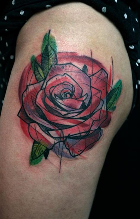 geometric rose tattoo 59 stunning geometric shoulder tattoos