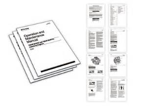 operation and maintenance manuals