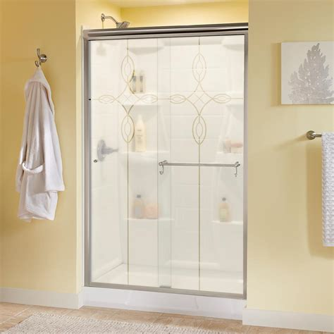 Delta Portman 48 In X 70 In Semi Frameless Sliding Semi Frameless Sliding Shower Door