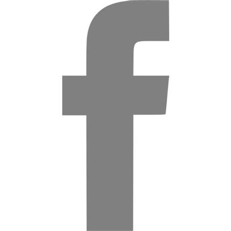 Gray facebook icon   Free gray social icons