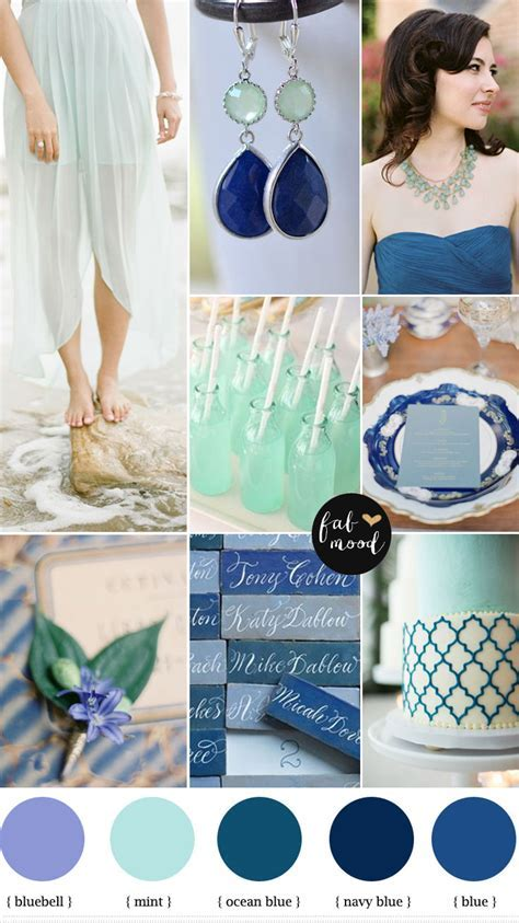 Bluebell mint navy blue wedding,beach wedding ideas