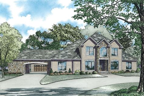 house plans with drive through garage marlow manor luxury home plan 055s 0043 house plans and more