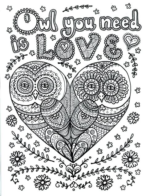 hard coloring pages of owls owl coloring pages for adults free detailed owl coloring