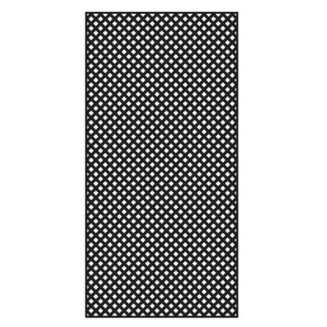 veranda lattice veranda 0 2 in x 48 in x 8 ft black vinyl privacy