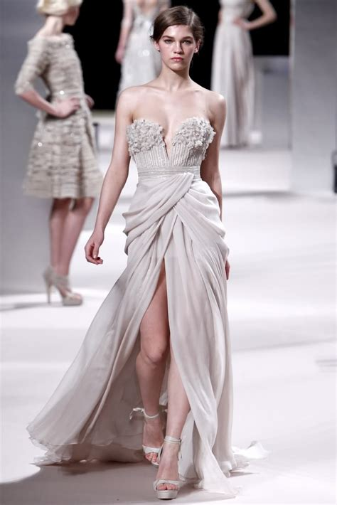 Couture Gowns by H 244 Tel De Mode Elie Saab Haute Couture S S 2011